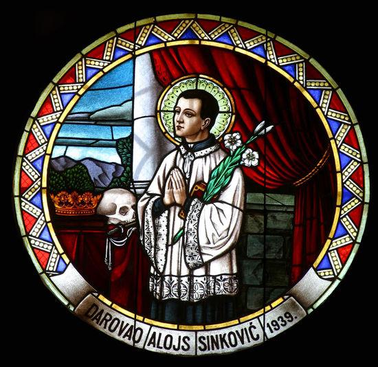 Saint Aloysius Abbey Aloysius Belief Christianity Church Convent Faith Glass Holy Patron Religion Religious  Sacred Saint Spiritual Stained Window Windowpane Worship