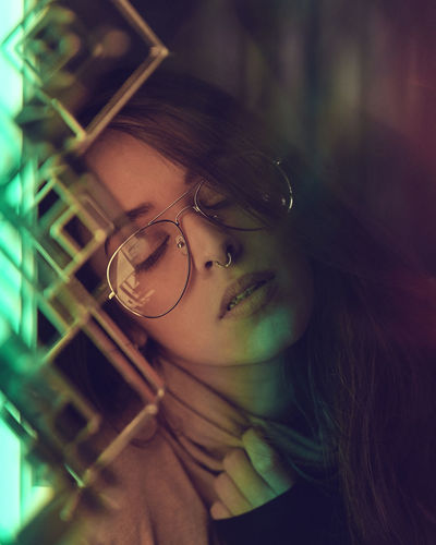 Light Catcher - Model: Shio - For Bookings: (Instagram: @shio_limitededition) Christmas Fine Art Photography Night Photography Valentine's Day  Bokeh Close-up Day Eyeglasses  Female Model Glasses Indoors  Neon One Person People Sparkly Winter Wonderland Young Adult Young Women Humanity Meets Technology