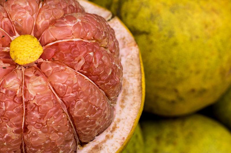 Close-up of orange fruit in market