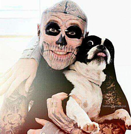 Zombieboy Zombie Tattoo Tattoos Rickgenest Dog Inlove Piercing Smiley Piercings