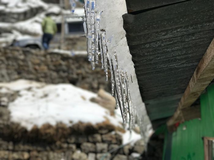 Close-up Ice Damaged No People Winter Cold Temperature Day Outdoors Water Dripping Nature