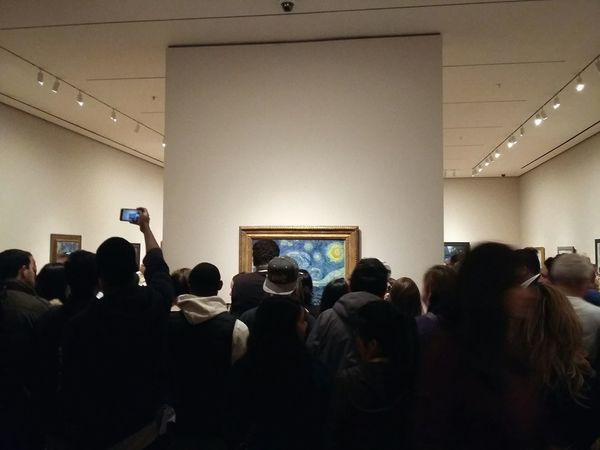 Starry Night. · New York City New York New York ❤ USA Manhattan Museum Of Modern Art Moma Museum Gallery Exhibition Art Fine Art Art Piece Painting Van Gogh From A Distance Behind People People Taking Photos Popular