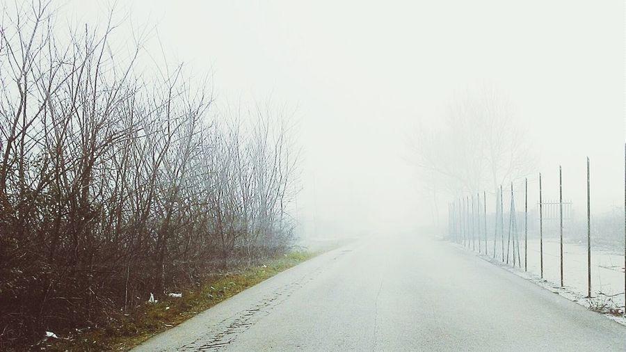 Un buongiorno sotto la nebbia on the road lazio italia