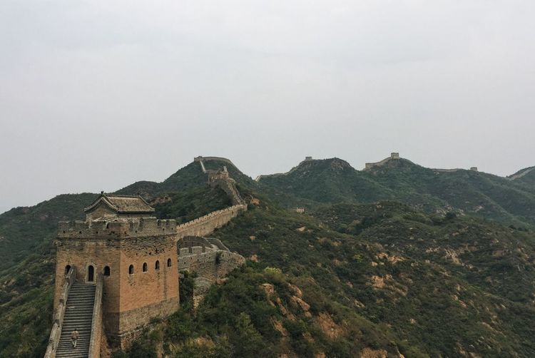 Great Wall Of China Against Clear Sky