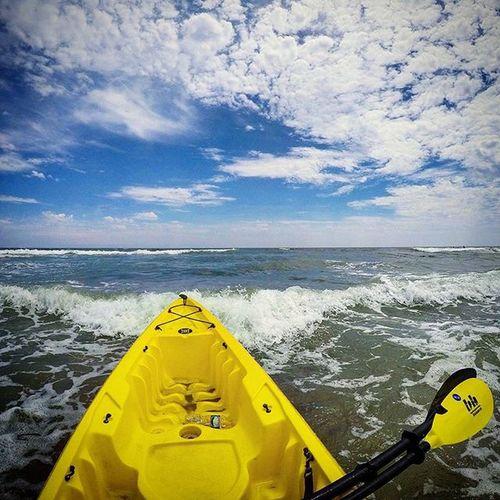 Kayak Ocean Bkue Relief Off Free Doac Atlanticcity