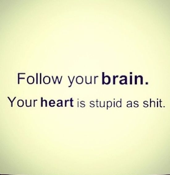 Motherly advise.