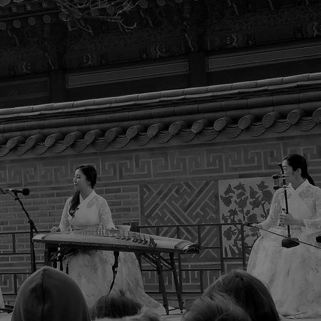 Korean Performers Korean Culture Cultural Performance Korean Music Korean Traditional Music  Musical Performance Gyeongbokgung Palace, Seoul Official Palace Built In 1395 Seoul South Korea Seoulspring2017