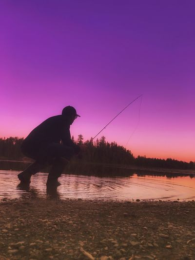 Dream Catcher Fly Fishing Sunset Minnesota In My Element🔮 Photography Moments Silhouette Live Your Dream .. Share Your Passion ..
