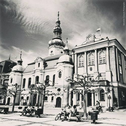 Poland Pszczyna Ratusz Street Photography Street View B&w Photography B&W Collection