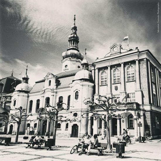 Poland Pszczyna Ratusz Street Photography Street View B&w Photography B&W Collection