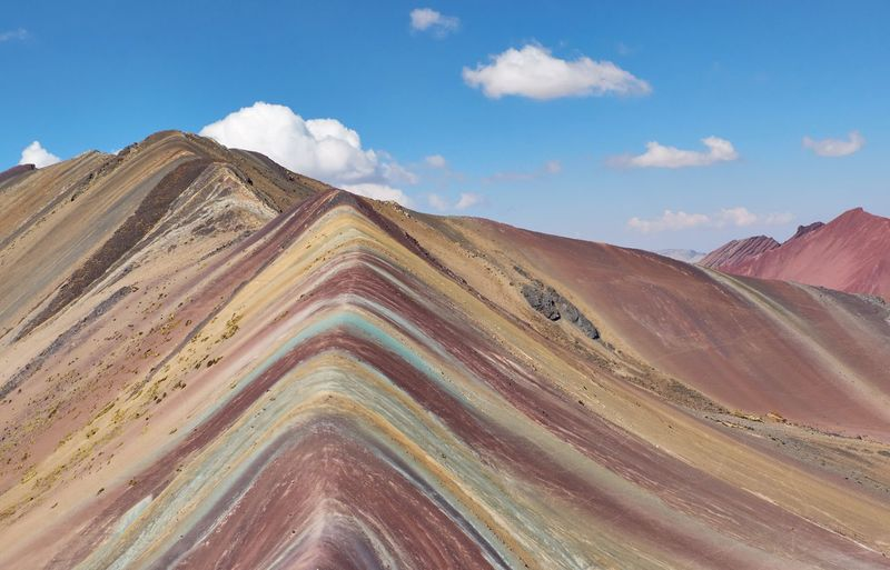 Peru - rainbowmountains. montana vinicunca, 5000 m above normal.