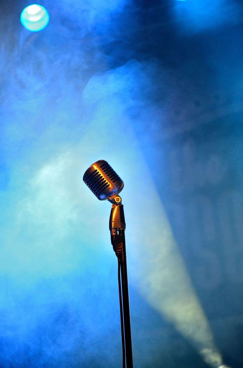 Low Angle View Of Microphone At Concert