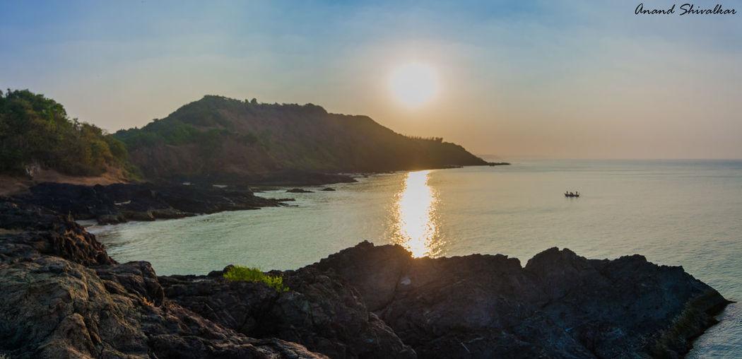 Ultrawide panorama sunrise Nikon D7000 Tokina128 Sunrise Nature Sea And Sky India