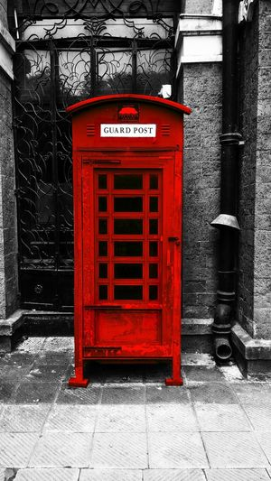 Connection Telephone Booth Pay Phone Western Script Sidewalk Culture Red Old-fashioned Architecture Mumbai Mumbai_uncensored Mumbaimerijaan Things2doinmumbai Mainbhisadakchap Black Dark
