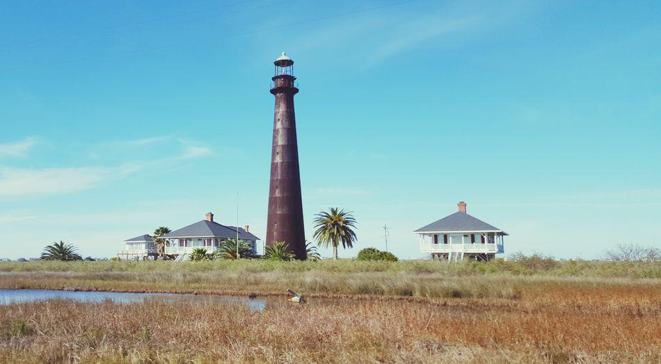 Texas Lighthouse Winter blue sky Outdoors Sunny☀ USA Galveston Port