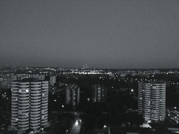 From The Rooftop Taking Photos Hello World Katowice Night View Old Pic  City