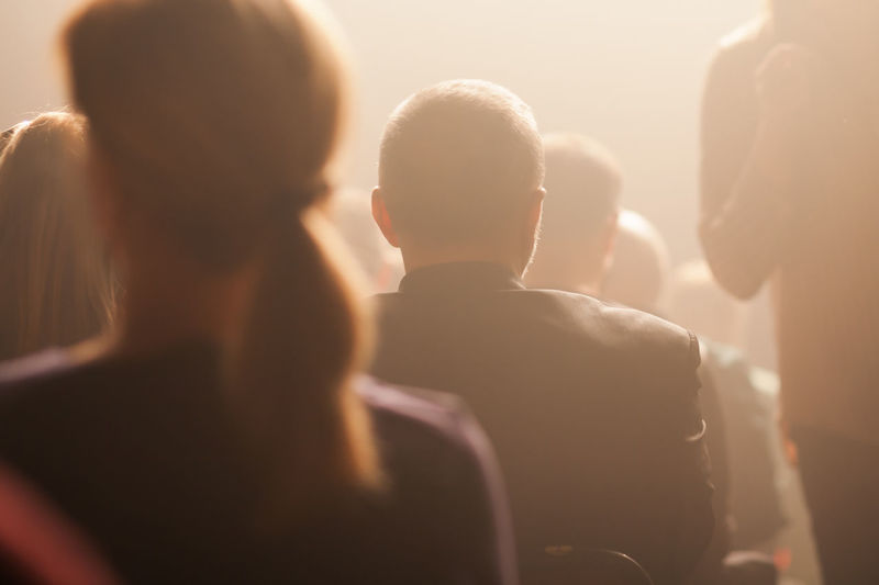 audience watching a performance Attention Music Smoke Soft Stage Theater Adult Audience Concert Crowd Entertainment Event Group Of People Headshot Listening Meeting Men People Performance Public Togetherness Unrecognizable View From Behind Watching Women