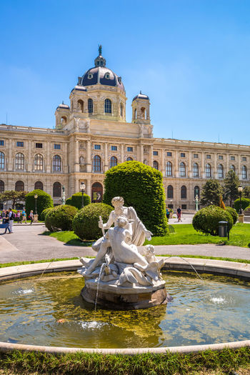 Vienna, Maria Theresien Platz City Maria Theresien Platz Maria-Theresien-Platz Vienna Architecture Art Art History Building Exterior Built Structure History Maria Theresia Museum Nature History Musem No People Nobody Outdoors Sky Travel Destinations Wien