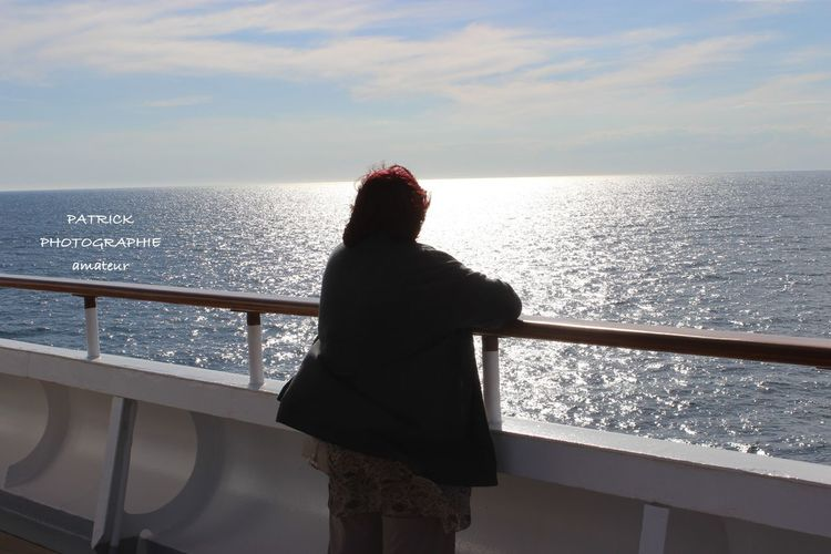 Adult Adults Only Croisiere Day France🇫🇷 Horizon Over Water Marseille --> Barcelone --> Minorque --> Marseille Mer Mediterranée Mid Adult Nature One Person One Woman Only Only Women Outdoors People Railing Rear View Sea Sky Spain🇪🇸 Standing Women