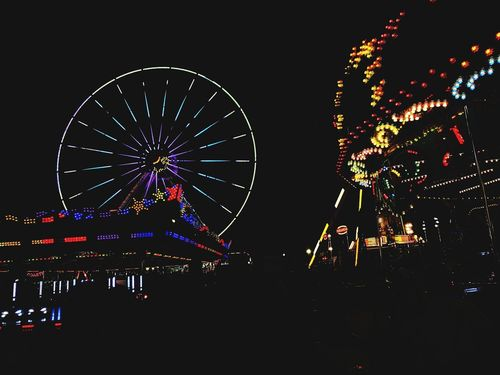 Pesta Pulau Pinang 2017, Malaysia Urban Wheel Light Light In The Darkness Funfair Colourful Enjoying Life Dark Background Malaysia ASIA Penang School Holidays Fun Kids Family Outdoors Token Tourist Attraction  Tourism Amusement Park Night Arts Culture And Entertainment Ferris Wheel Illuminated Amusement Park Ride Low Angle View Multi Colored Outdoors Sky