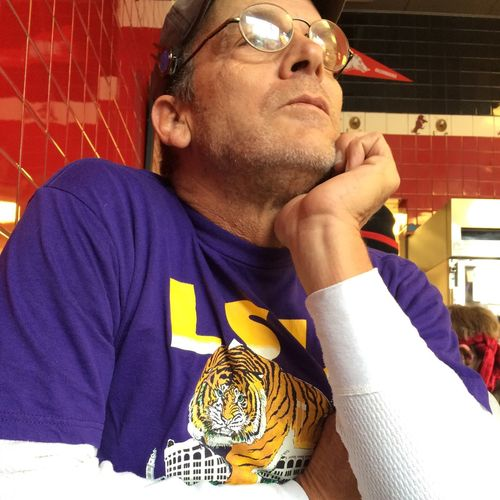 My brother, @stevenwadcock, looking like my Dad. ❤️ GeauxTigers