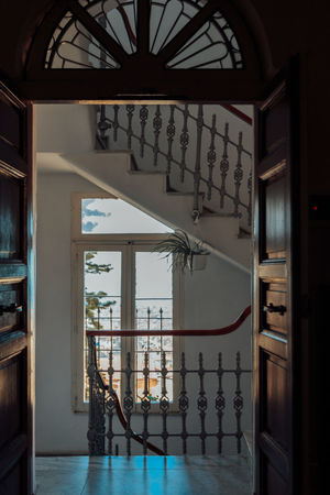 Hallway Holiday Home Stairs Vacations Architecture Built Structure Day Door Doorway Floor Home Interior Indoors  Interior Italy No People Old Buildings Open Door Railing Staircase Window Windows Wooden Door