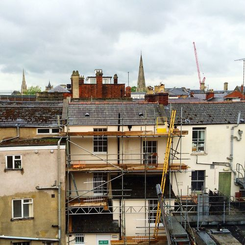 Cheltenham Buildings Houses Residential  Construction Under Construction Crane Cloudy Architecture British