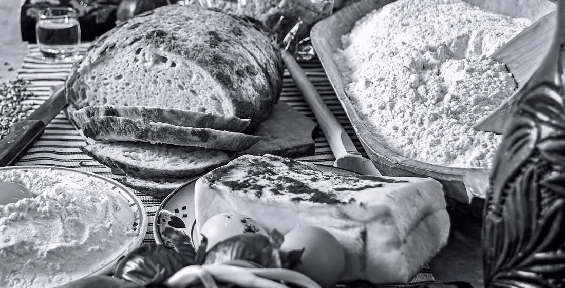 Romanian traditional food table Black & White Monochrome Photograhy Romanian Tradition Baguette Black And White Black And White Photography Bread Brown Bread Close-up Day Food Food And Drink French Food Freshness Healthy Eating Loaf Of Bread Monochromatic Monochrome Monochrome _ Collection Monochrome_life No People Outdoors Romanian Food Wheat Whole Wheat Wholegrain
