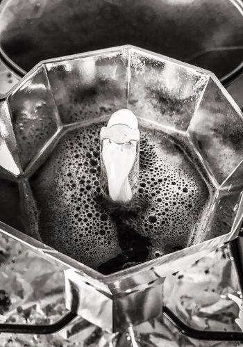 Coffee Making Moka Pot Flames. Morning Fog