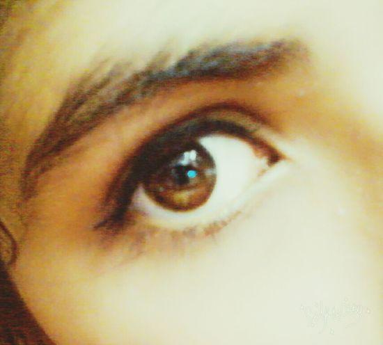 My eye is brown