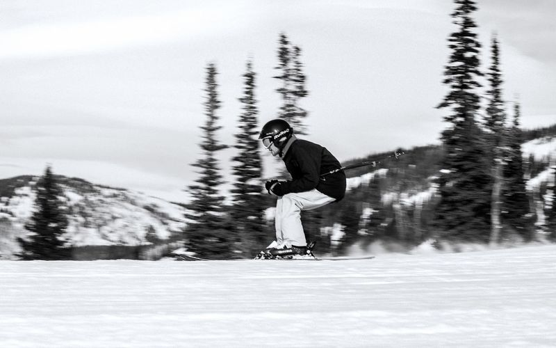 when all ya wanna do is zooma zoom zoom zoom, do it! Blackandwhite Snow Winter Cold Temperature One Person Plant Winter Sport Day Sport Real People Mountain Outdoors Motion