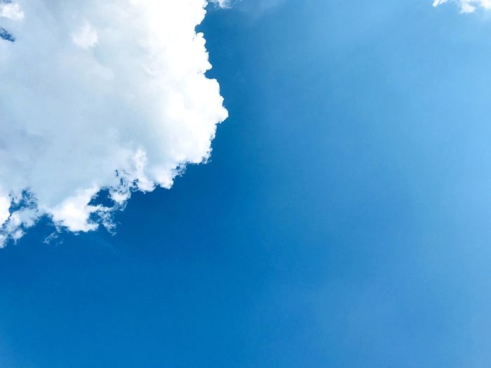 Cloud Blue Cloud - Sky Sky No People Scenics - Nature Beauty In Nature Nature Day Tranquility Low Angle View Tranquil Scene Full Frame Backgrounds