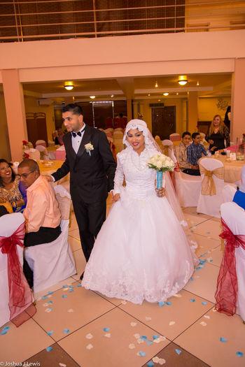 Smiling Beautiful Wedding Ceremony Caribbean Life Events Trinidad And Tobago Religion Muslimwedding Stillife Husband Happiness Couple - Relationship Bridegroom Couple Two People Wedding Dress Bride