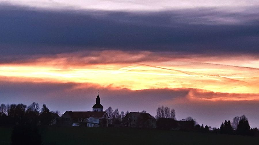 Weihnachtsstimmung Silhouette Cloud - Sky Nature Landscape first eyeem photo
