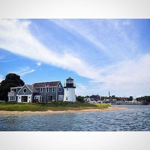 ⛵️🇺🇸.... Capecod House Boatride Hyannis Atlanticocean Marina LightHousesEverywhere ThisOneIsFake Instantartist