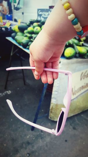 This Is Summer day 17. French Market Market Fresh Fruit And Vegetables Pink Sunglasses Tourist Summer Holidaysho