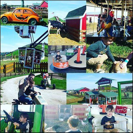 A boy and a farmPumpkinpatch Midwestliving🍊🍁🎡🌰🌽 Stadesfarmandmarket