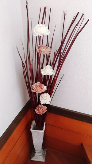 Rose artifical flower Indoors  Flower Artifical Flower Rosé Long White Brown