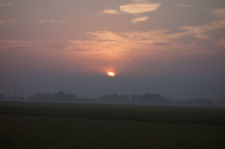 Sunset Sun Sky Orange Color 朝日