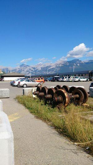 Canada Rockies from jasper town