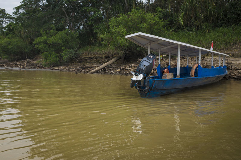 Boat Idyllic Mode Of Transport Nature Nautical Vessel Non-urban Scene Outdoors Peru Puerto Maldonado Rippled River Riverside Tambopata Tourism Tranquil Scene Tranquility Transportation Water