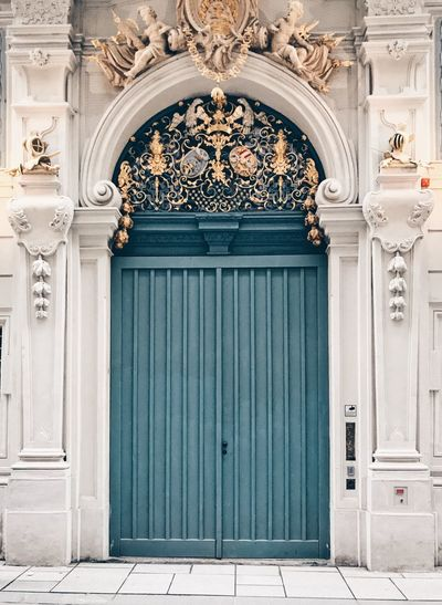 EyeEm Selects Architecture Closed Built Structure Entrance Door Building Exterior Building History The Past No People Arch Art And Craft Ornate Pattern Travel Destinations Craft Architectural Feature Day Blue Outdoors