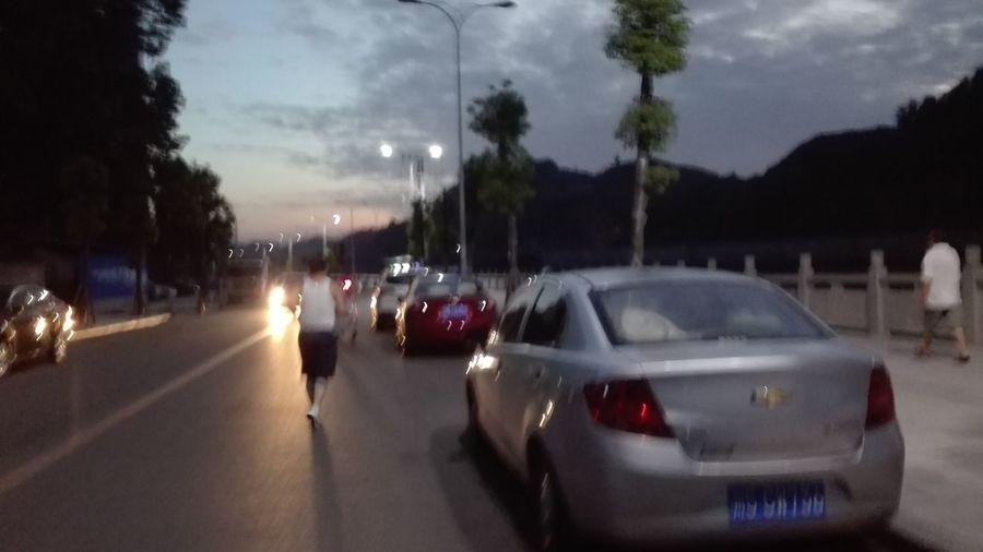 Morning Running Morning Jog Car Transportation Cloud - Sky Speed Land Vehicle Tree
