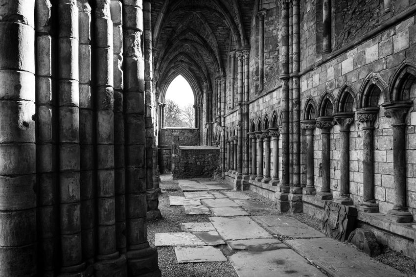 Abbey Ancient Civilization Arcade Arch Architectural Column Architecture Belief Building Built Structure Colonnade Corridor Courtyard  Day Eye4black&white  Eye4photography  History Indoors  No People Old Place Of Worship Religion Ruined Spirituality The Past Window
