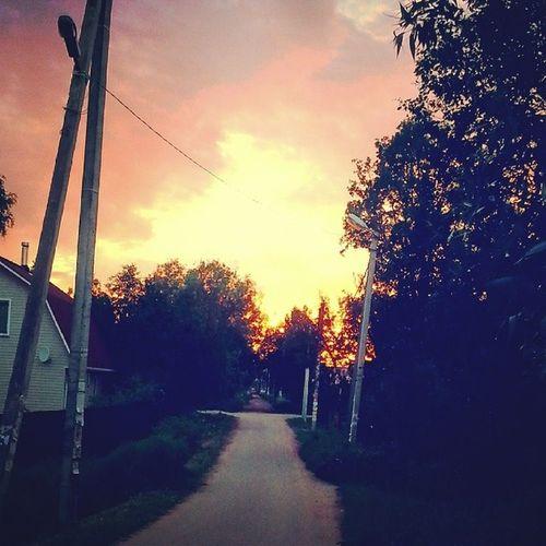 Саблино Закат солнце лето ульяновка