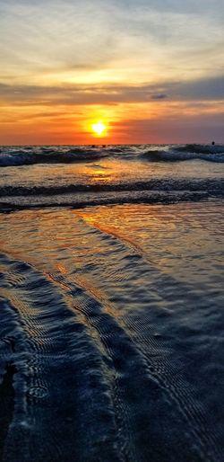 Sunset Water Sea Sky Capture Tomorrow