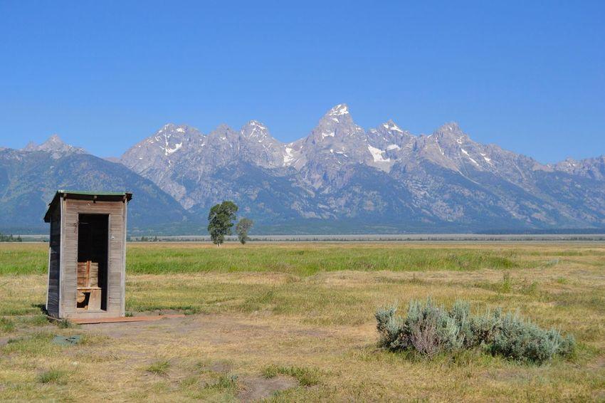 Colour Of Life Grand Teton National Park  Grand Tetons Mountains Outhouse