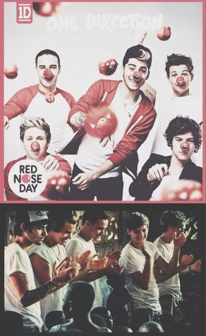One Direction Comic Relief Red Nose Day OWOA