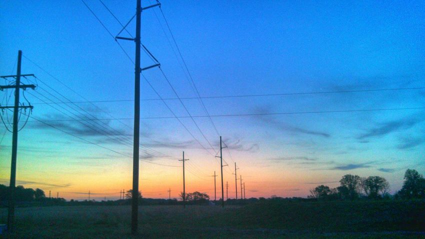 Beautiful Sunrise Power Lines Check This Out