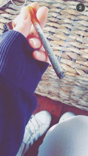 Taking Photos Smoking Weed Joint Oklm
